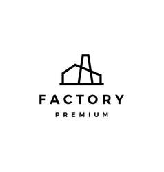Factory logo icon vector