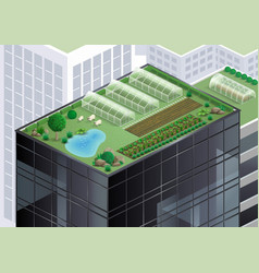 farm on the roof vector image
