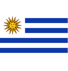 Flag of uruguay in official rate and colors vector