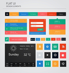 Flat ui elements vector