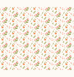floral seamless pattern on yellow pastel vector image