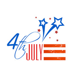 fourth of july shooting star background ima vector image