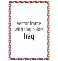 Frame and border of ribbon with the colors iraq vector
