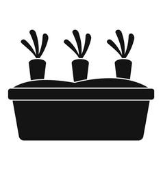 Garden carrots icon simple style vector
