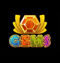 gems logo and award icon jewerl stone vector image