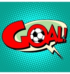 Goal football comic style text vector