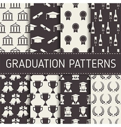 Graduation Seamless Pattern Collection vector image