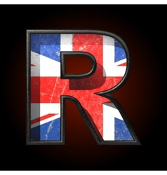 Great Britain cutted figure r vector
