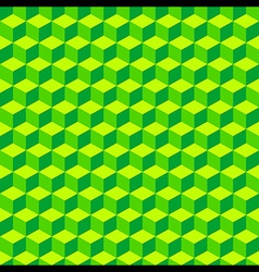 Green Geometric Volume Seamless Pattern Background vector image