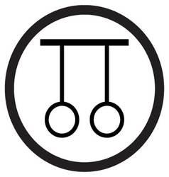 Gymnastic rings icon vector image vector image