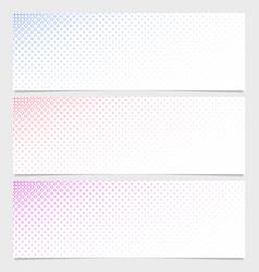 Halftone circle pattern banner template set vector