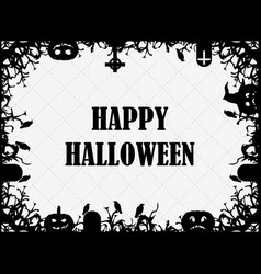 happy halloween october 31st festive frame with vector image