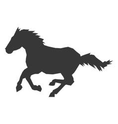Horse silhouette icon vector
