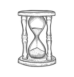 hourglass drawing vector image