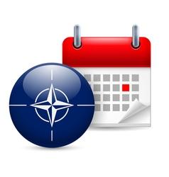 Icon of NATO flag and calendar vector