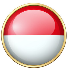 indonesia flag on round badge vector image