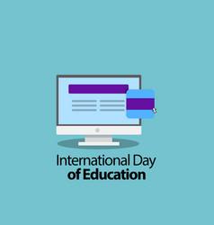 International day education celebration vector