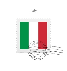 Italy flag postage stamp vector