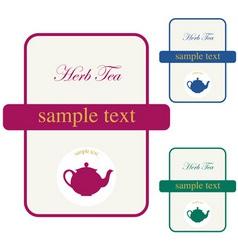 label herb tea vector image