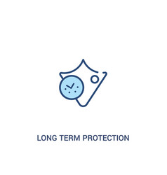 Long term protection concept 2 colored icon vector