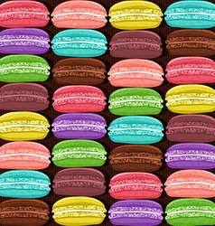 macaroon colorful seamless pattern vector image