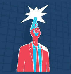 male head gun concept vector image
