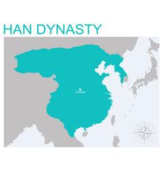 Map han dynasty vector