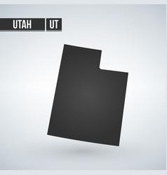 Map us state utah vector
