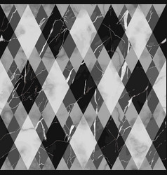 marble black and white luxury geometric seamless vector image