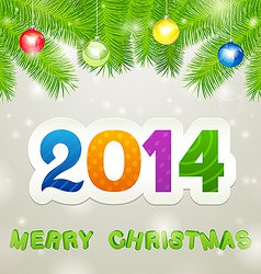Merry Christmas 2014 Background vector image