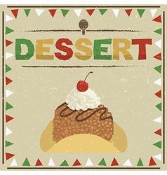 mexican dessert vector image vector image