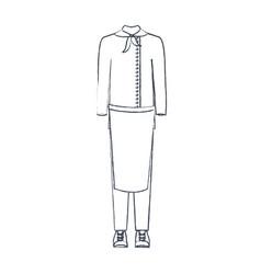 monochrome blurred silhouette of male uniform of vector image