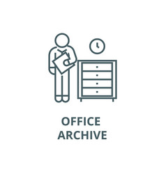 office archive archiver line icon linear vector image