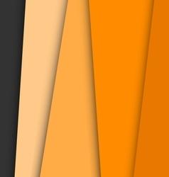 Orange overlap layer paper material design vector