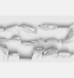 ragged hole torn in ripped paper on background vector image