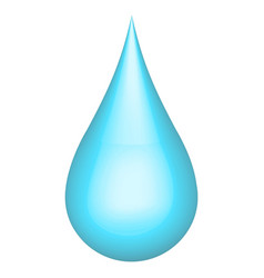 realistic 3d water drop h2o ecology concept vector image