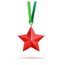 Red 3d star premium The best reward vector