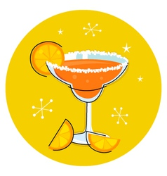 retro margarita vector image