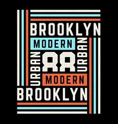 retro on theme brooklyn vector image