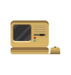 retro personal computer vintage pc vector image