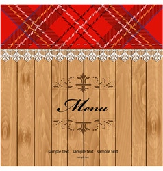 Scottish Tartan Pattern Menu vector