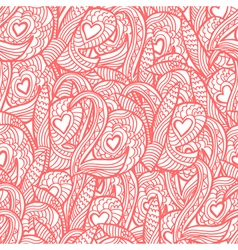 Seamless pattern with hand drawn quote love Sketch vector image