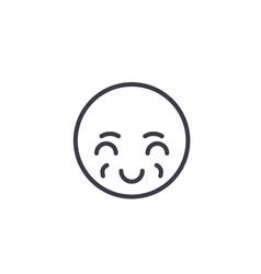 sly emoji concept line editable concept vector image