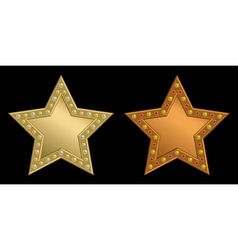 Star plaque vector image