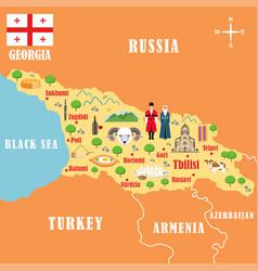 Stylized map georgia vector