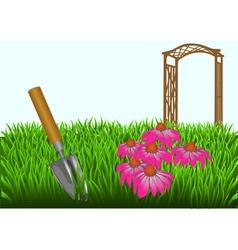 Summer gardening vector