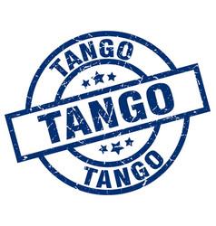 Tango blue round grunge stamp vector