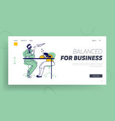 tired business people characters emotional burnout vector image