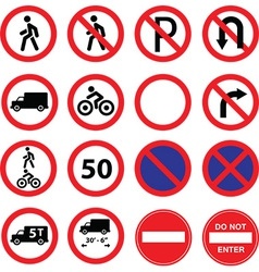 Traffic signs restrictions vector