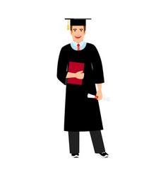 university male student graduate icon vector image